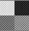 four different seamless polka dot patterns vector image vector image