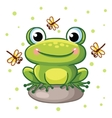 frog on a rock vector image vector image