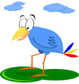 Funny Blue Cartoon Bird vector image vector image