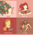 girls nature beauty design concept vector image