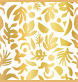 gold foil abstract floral plant shapes seamless vector image vector image