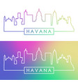 Havana skyline colorful linear style editable
