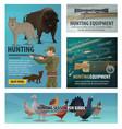 hunting season animal and bird hunter ammunition vector image vector image