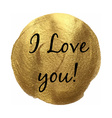 I Love You Banner vector image