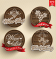 Labels on casks vector image vector image