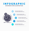 location globe worldwide pin marker infographics vector image