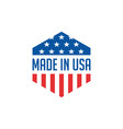 made in usa icon concept badge design with blue vector image vector image