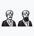 man in turban symbol vector image