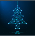 merry christmas and new year design with low poly vector image vector image