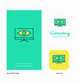 monitor company logo app icon and splash page vector image vector image