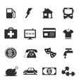 Monthly costs icons vector image vector image