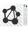 network flat icon with bonus vector image vector image