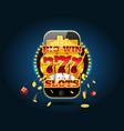 online gambling concept cellphone casino app vector image vector image