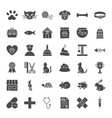 pet shop solid web icons vector image