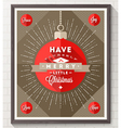 Poster with Christmas type design vector image vector image