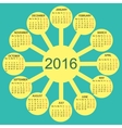 rays sun simple 2015 year calendar vector image