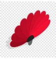 Red fan isometric icon
