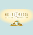 religious banner on easter theme with a church vector image vector image