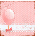 Retro Background Little princess vector image vector image