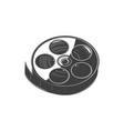 retro film reel isolate multimedia video tape icon vector image