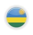 Rwanda icon circle vector image