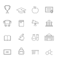 School education outline icons vol 3 vector image vector image