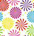 Seamless colorful spiral pattern vector image