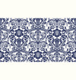 seamless damask pattern blue and ivory image vector image vector image