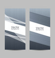 set banners with abstract striped background vector image vector image