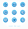 set icons 3d vector image vector image
