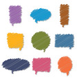 set of colorful hand drawn speech bubbles vector image vector image