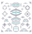 Set of Vintage Line Art Calligraphic vector image
