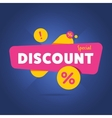 special discount advertisement promo banner vector image vector image