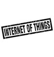 Square grunge black internet of things stamp vector image