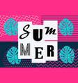 summer background memphis style pop art vector image