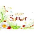 Summer background with beautiful swirls leafs vector image vector image