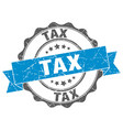tax stamp sign seal vector image vector image