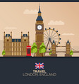 trip to london vacation road trip tourism vector image vector image