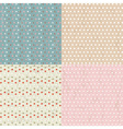 Vintage Paper With Polka Dots Set vector image vector image
