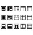 web layout icons vector image vector image