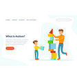 what is autism landing page template cute boy vector image vector image