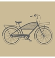 Old classic bicycle vintage vector image