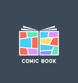 simple colored linear comic book logo vector image