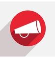 modern loudspeaker red circle icon vector image