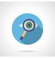 Eye with magnifier round flat color icon vector image