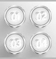 numbered circle templates vector image