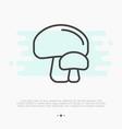 thin line icon of mushrooms champignon vector image