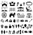 Amusement park icons vector image