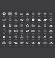 abstract logos collection vector image vector image