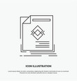ad advertisement leaflet magazine page icon line vector image vector image